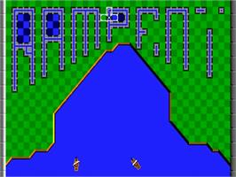 Title screen of Rampart on the Commodore Amiga.