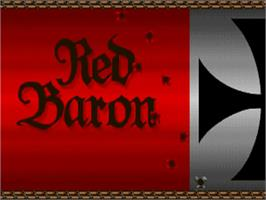 Title screen of Red Baron on the Commodore Amiga.