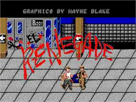 Title screen of Renegade on the Commodore Amiga.