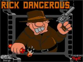 Title screen of Rick Dangerous on the Commodore Amiga.
