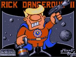 Title screen of Rick Dangerous 2 on the Commodore Amiga.