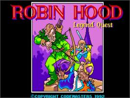 Title screen of Robin Hood: Legend Quest on the Commodore Amiga.