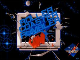 Title screen of Roller Coaster Rumbler on the Commodore Amiga.