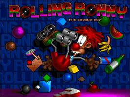 Title screen of Rolling Ronny on the Commodore Amiga.