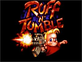 Title screen of Ruff 'n' Tumble on the Commodore Amiga.