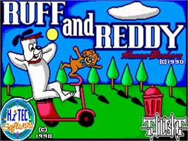 Title screen of Ruff and Reddy in the Space Adventure on the Commodore Amiga.