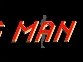 Title screen of Running Man on the Commodore Amiga.