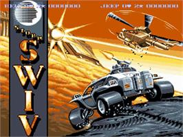 Title screen of S.W.I.V. on the Commodore Amiga.