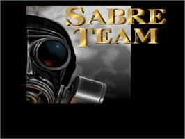 Title screen of Sabre Team on the Commodore Amiga.