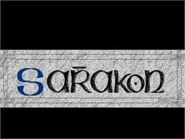 Title screen of Sarakon on the Commodore Amiga.