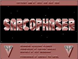 Title screen of Sarcophaser on the Commodore Amiga.
