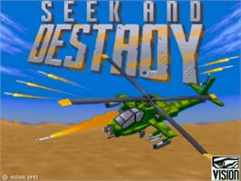 Title screen of Seek and Destroy on the Commodore Amiga.