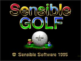 Title screen of Sensible Golf on the Commodore Amiga.