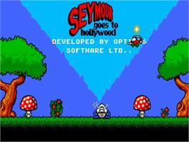 Title screen of Seymour Goes to Hollywood on the Commodore Amiga.