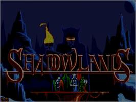 Title screen of Shadowlands on the Commodore Amiga.