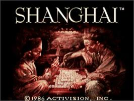 Title screen of Shanghai on the Commodore Amiga.
