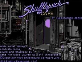Title screen of Shufflepuck Cafe on the Commodore Amiga.