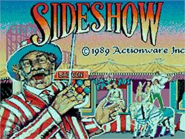 Title screen of SideShow on the Commodore Amiga.