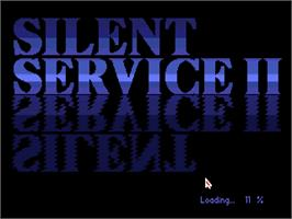 Title screen of Silent Service on the Commodore Amiga.