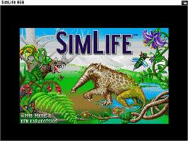 Title screen of Sim Life on the Commodore Amiga.