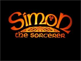 Title screen of Simon the Sorcerer on the Commodore Amiga.