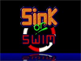 Title screen of Sink or Swim on the Commodore Amiga.
