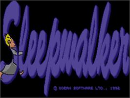 Title screen of Sleepwalker on the Commodore Amiga.