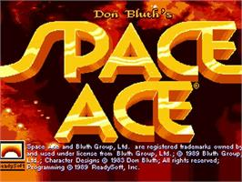 Title screen of Space Ace on the Commodore Amiga.