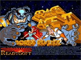 Title screen of Space Ace II: Borf's Revenge on the Commodore Amiga.