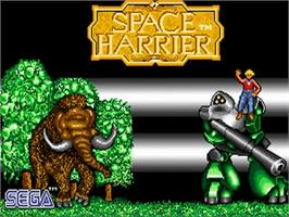 Title screen of Space Harrier on the Commodore Amiga.