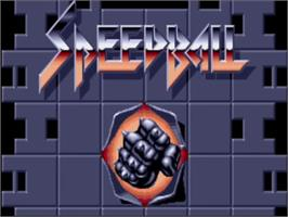 Title screen of Speedball on the Commodore Amiga.