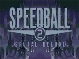 Title screen of Speedball 2: Brutal Deluxe on the Commodore Amiga.