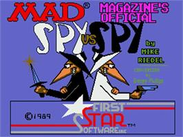 Title screen of Spy vs. Spy on the Commodore Amiga.