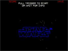 Title screen of Star Wars: The Empire Strikes Back on the Commodore Amiga.