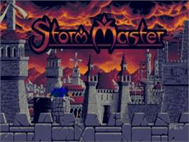 Title screen of Storm Master on the Commodore Amiga.