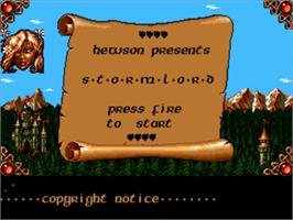 Title screen of Stormlord on the Commodore Amiga.