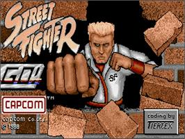 Title screen of Street Fighter on the Commodore Amiga.
