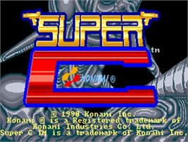 Title screen of Super C on the Commodore Amiga.