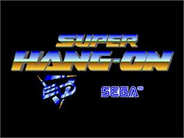 Title screen of Super Hang-On on the Commodore Amiga.