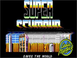 Title screen of Super Seymour Saves the Planet on the Commodore Amiga.