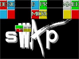 Title screen of Swap on the Commodore Amiga.