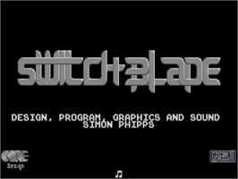Title screen of Switchblade on the Commodore Amiga.