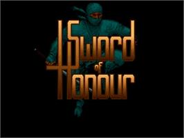Title screen of Sword of Honour on the Commodore Amiga.