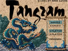 Title screen of Tangram on the Commodore Amiga.
