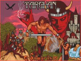 Title screen of Targhan on the Commodore Amiga.
