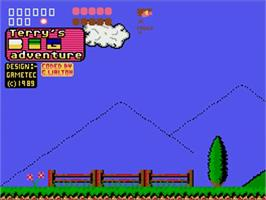 Title screen of Terry's Big Adventure on the Commodore Amiga.