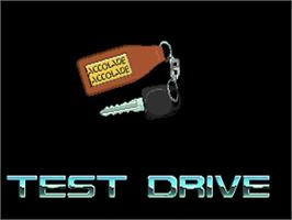 Title screen of Test Drive on the Commodore Amiga.