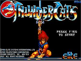 Title screen of Thundercats on the Commodore Amiga.