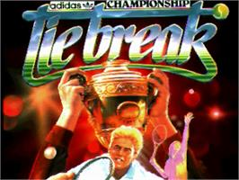 Title screen of Tie Break on the Commodore Amiga.