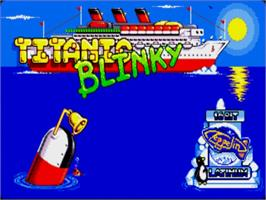 Title screen of Titanic Blinky on the Commodore Amiga.